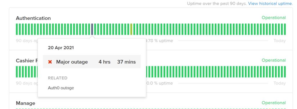 flowhub outage status update