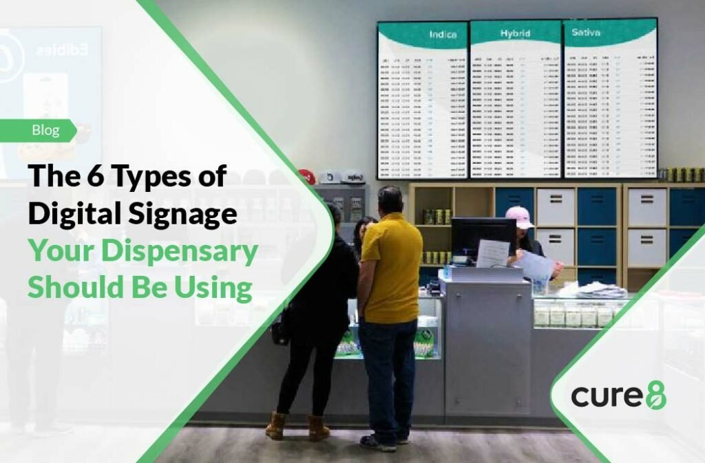 The 6 Types of Digital Signage Your Dispensary Should Be Using-01
